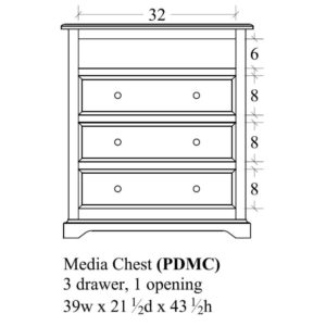 Portland Media Chest by Amish Crafted by Noah Bontrager