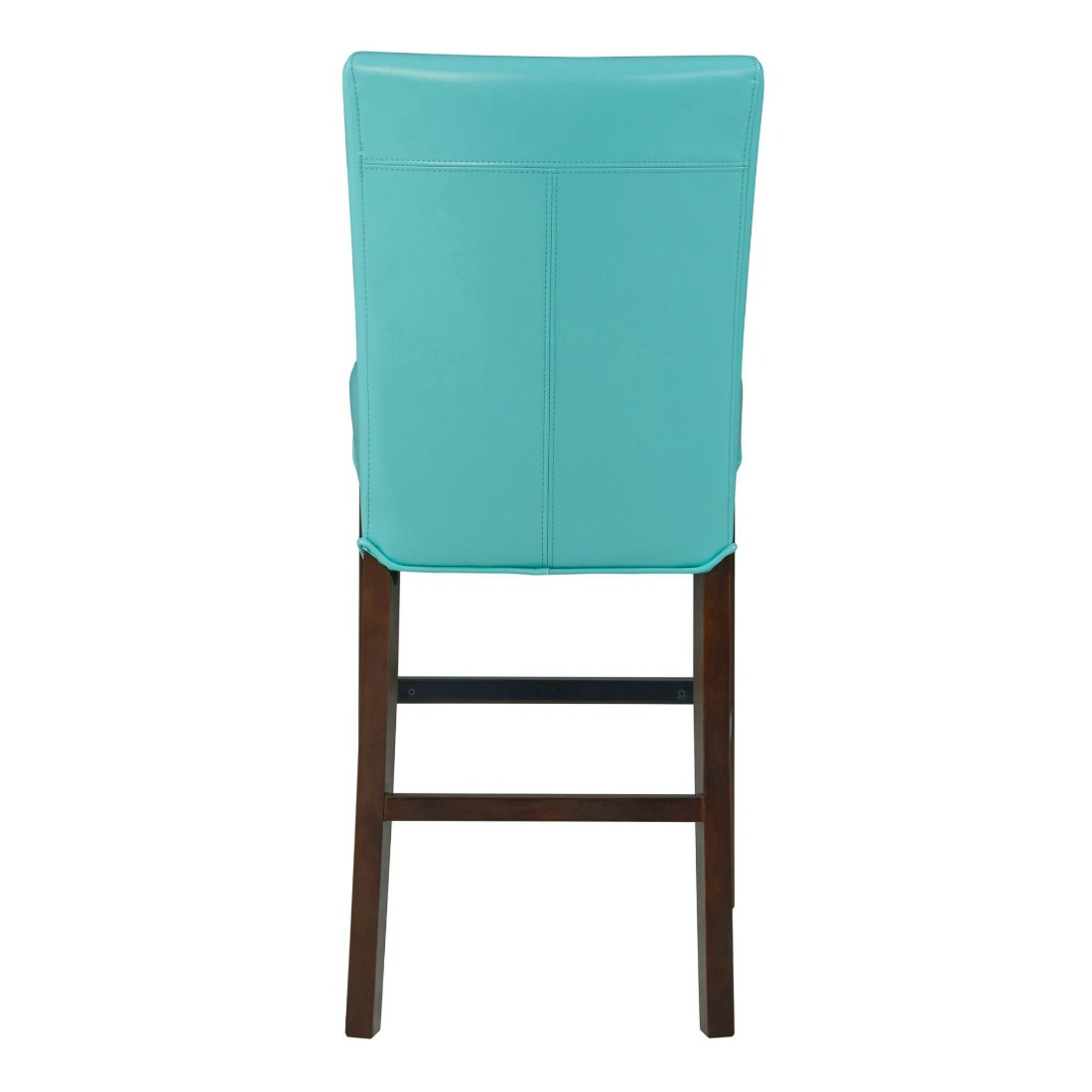 Milton Bonded Leather Stool Aqua 26 By New Pacific