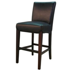 Milton Bonded Leather Stool Black 26″ by New Pacific Direct