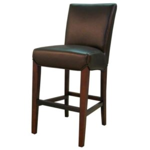 Milton Bonded Leather Stool Coffee Bean 26″ by New Pacific Direct