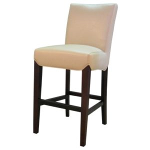 Milton Bonded Leather Stool Cream 26″ by New Pacific Direct