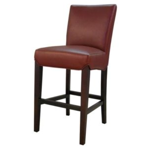 Milton Bonded Leather Stool Pomegranate 26″ by New Pacific Direct