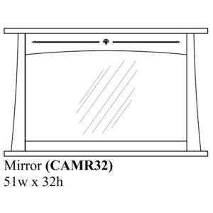 Castlebrook Mirror by Amish Crafted by Noah Bontrager