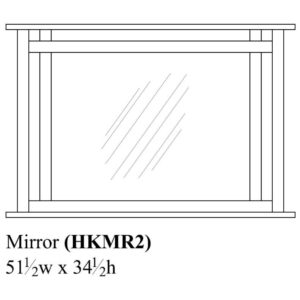 Hyde Park Mirror by Amish Crafted by Noah Bontrager