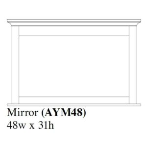 Audrey Mirror 48×31 by Amish Crafted by Noah Bontrager