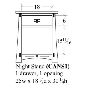 Castlebrook 1 Drawer, 1 Opening Nightstand by Amish Crafted by Noah Bontrager