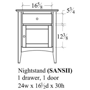Sedona 1 Drawer, 1 Door Nightstand by Amish Crafted by Noah Bontrager