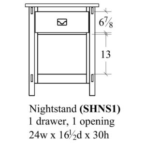 Savannah 1 Drawer Nightstand by Amish Crafted by Noah Bontrager
