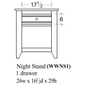 Woodrow 1 Drawer Nightstand by Amish Crafted by Noah Bontrager