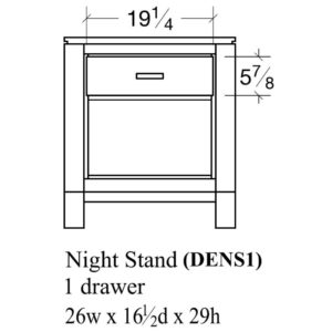Delridge 1 Drawer Nightstand by Amish Crafted by Noah Bontrager