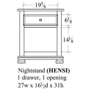 Havenridge 1 Drawer Nightstand by Amish Crafted by Noah Bontrager