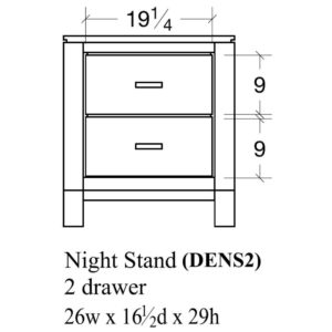 Delridge 2 Drawer Nightstand by Amish Crafted by Noah Bontrager
