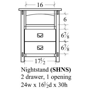 Savannah 2 Drawer Nightstand by Amish Crafted by Noah Bontrager
