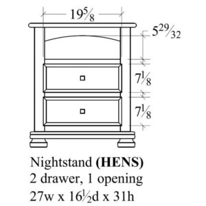Havenridge 2 Drawer Nightstand by Amish Crafted by Noah Bontrager