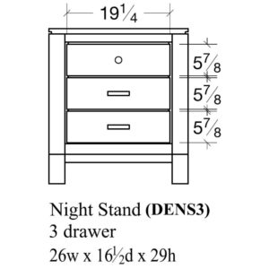 Delridge 3 Drawer Nightstand by Amish Crafted by Noah Bontrager