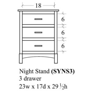 Sydney 3 Drawer Nightstand by Amish Crafted by Noah Bontrager