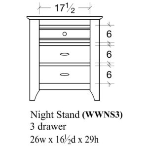 Woodrow 3 Drawer Nightstand by Amish Crafted by Noah Bontrager