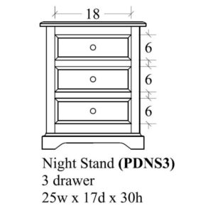 Portland 3 Drawer Nightstand by Amish Crafted by Noah Bontrager