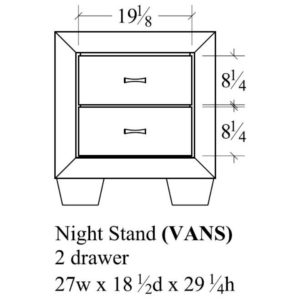 Verona Nightstand by Amish Crafted by Noah Bontrager