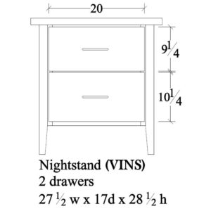 Victor Nightstand by Amish Crafted by Noah Bontrager