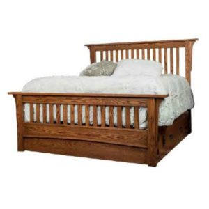 Old Mission Slat Bed by Amish Crafted by Noah Bontrager