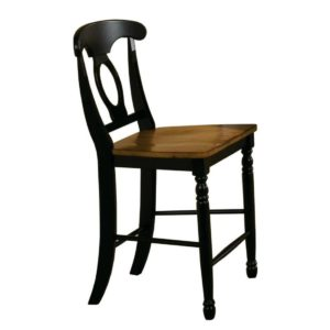 Quails Run 24″ Napoleon Barstool (Almond/Ebony) by Winners Only