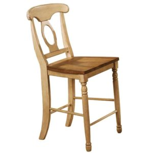 Quails Run 24″ Napoleon Barstool (Almond/Wheat) by Winners Only