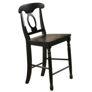 Quails Run 24″ Napoleon Barstool (Ebony) by Winners Only