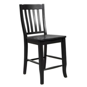 Quails Run 24″ Rake Back Stool (Ebony) by Winners Only