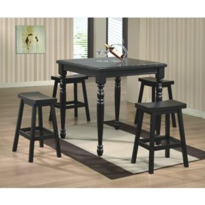 Quails Run 5-Piece Tall Dining Set (Ebony) by Winners Only