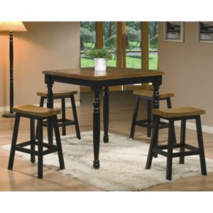 Quails Run 5-Piece Tall Dining Set (Almond/Ebony) by Winners Only