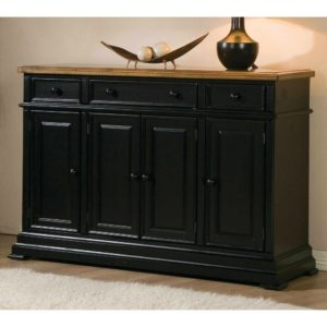 Quails Run 58″ Sideboard (Almond / Ebony) by Winners Only