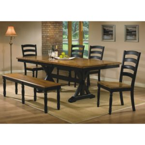 Quails Run 6-Piece Dining Set (Almond/Ebony) by Winners Only