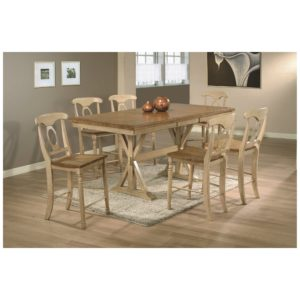 Quails Run 7-Piece Tall Dining Set (Almond/Wheat) by Winners Only
