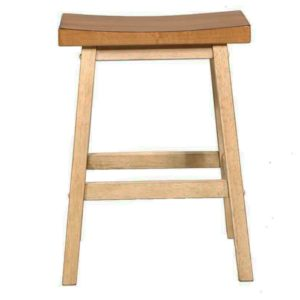 Quails Run 24″ Saddle Barstool (Almond/Wheat) by Winners Only