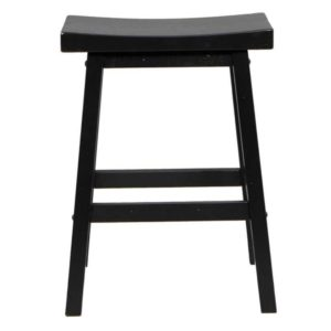 Quails Run 24″ Saddle Barstool (Ebony) by Winners Only