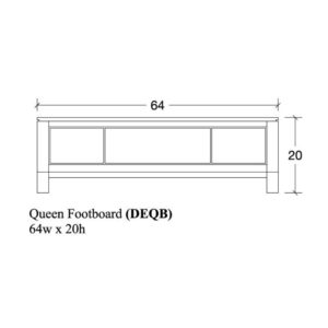 Delridge Queen Footboard by Amish Crafted by Noah Bontrager