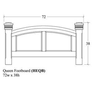 Havenridge Queen Headboard by Amish Crafted by Noah Bontrager