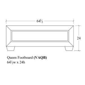 Verona Queen Footboard by Amish Crafted by Noah Bontrager