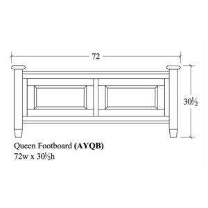 Audrey Queen Footboard by Amish Crafted by Noah Bontrager