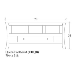 Chandler Queen Footboard w/ Drawer by Amish Crafted by Noah Bontrager