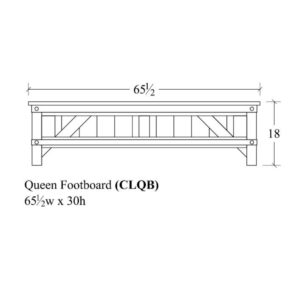 Cedar Lakes Queen Footboard by Amish Crafted by Noah Bontrager