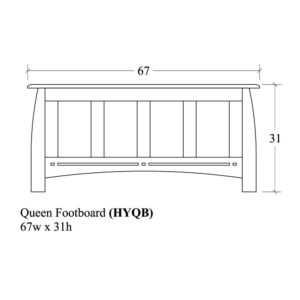 Hayworth Queen Footboard by Amish Crafted by Noah Bontrager