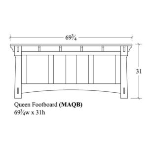 Mayberry Queen Footboard by Amish Crafted by Noah Bontrager