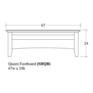 Savannah Queen Footboard by Amish Crafted by Noah Bontrager