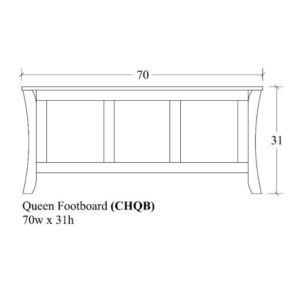 Chandler Queen Footboard by Amish Crafted by Noah Bontrager