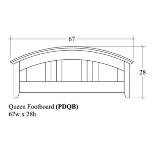 Portland Queen Footboard by Amish Crafted by Noah Bontrager