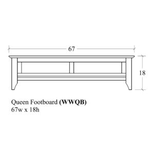 Woodrow Queen Footboard by Amish Crafted by Noah Bontrager