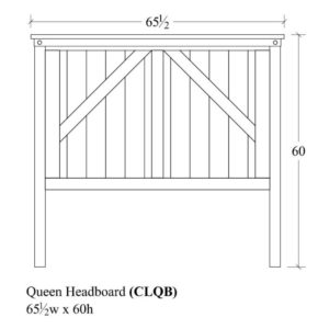 Cedar Lakes Queen Headboard by Amish Crafted by Noah Bontrager