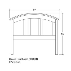 Portland Queen Headboard by Amish Crafted by Noah Bontrager